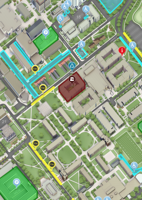sample map of dorm move-in help